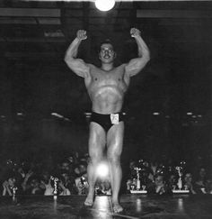 Diane Arbus  Muscle man contestant, NYC  1968