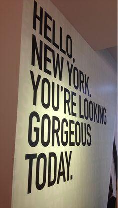 hello, new york.
