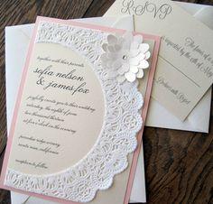 wedding invitation ideas on pinterest rustic shabby chic lace shabby chic wedding invitations 736x706