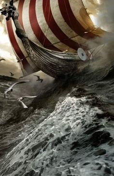 Has there ever been a more exciting ship design? - Viking ship… Has there ever been a more exciting ship design? Viking ship… Has there ever been a more exciting ship design? Viking Life, Viking Warrior, Tattoo Avant Bras, Viking Culture, Old Norse, Norse Vikings, Norse Mythology, Dungeons And Dragons, Sailing Ships
