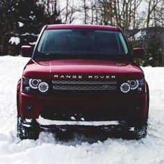 Burgundy Range Rover