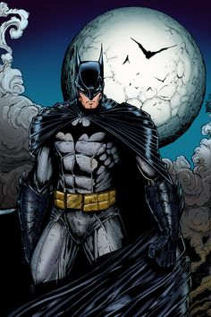Dark Knight (color) by RHIX72.deviantart.com on @deviantART