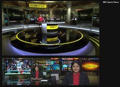 BBC Sport News Tv Set Design, Stage Design, Booth Design, Virtual Studio, Russian Style, Stage Set, News Studio, Living Room Tv, Studio Design