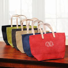 Personalized totes for wedding party gifts