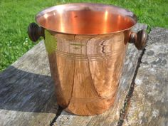 French Copper Champagne Bucket or Wine by NormandyCollectables
