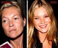 kate moss with and without makeup Power Of Makeup, Get A Life, Without Makeup, Perfect World, Celebs, Celebrities, Kate Moss, Feel Better, Picture Video
