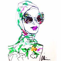 Silken turbans & vast glitter sunglasses 🌸 @dolcegabbana #ITALIAISLOVE #holiday  #italy #italiandream #amalficoast #mfw #dolceandgabbana #romance #silk #flowers #pizza #pasta #fashionweek #fashionistas #fashion #fashionillustration #illustration #sketch #drawing #csteien #art #artist #ladonna #ragazza #vogue #ellemagazine #dolcegabbana #DGss16 #DGfamily