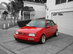 Vw Golf 3, Golf Mk3, Volkswagen Golf, Vw Cabrio, Cars Motorcycles, Skull, Trucks, Red, Autos