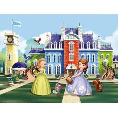 Sofia The First Princesses Amber, Kalle, Kiki, Mia and Robin L x W 4 Piece Wallpaper Embossed Wallpaper, Wallpaper Roll, Wall Wallpaper, Buy Wallpaper Online, Paradise Garden, Sofia The First, Princess Sofia, Hazelwood Home, Tropical Leaves