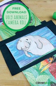 """This activity is based on the book """"The Illustrated Encyclopaedia of Ugly Animals"""" by Sami Bayly. Why is it only the pretty animals that get all the attention? Use our templates to create a fun camera roll of the not-so-cute animals of the world as you learn about them in the Encyclopaedia. We've included some animals to colour in and then use the blank template to draw your own versions! Mindfulness Activities, Activities For Kids, Pretty Animals, Cute Animals, Ugly Animals, Book Week, Draw Your, Animals Of The World, Camera Roll"""