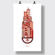 Boston by Rafael Cavalcanti, via Behance
