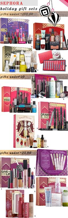 Best Sephora Holiday Gift Sets  2014! #giftsets #holiday #giftideas