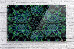 Blue and Green Peony Acrylic Print