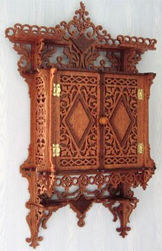 scroll saw patterns free | this is an attractive wall cabinet nicely ornamented with rich ...