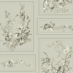 The Magnolia Wallpaper in Warm Grey and Neutrals from the Magnolia... ($35) ❤ liked on Polyvore featuring home, home decor, wallpaper, magnolia wallpaper, magnolia flower wallpaper, magnolia home decor, neutral wallpaper and southern home decor