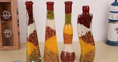 Temas, Frases, Curiosidades y Más Diy Bottle, Bottle Art, Bottle Crafts, Feng Shui, Crystal Healing Stones, Indian Home Decor, Wicca, Home Crafts, Kitchen Decor