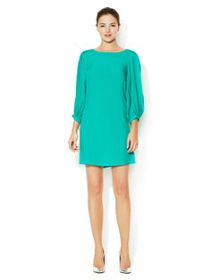 Twill Shift Dress with Contrast Zipper by Alex + Alex at Gilt