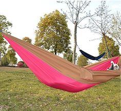 Kansoon® Multi-functional hammocks, Outdoor Camping Hiking Traveling, Portable Lightweight, Nylon fabric Hammock. * Tried it! Love it! Click the image. : Camping Furniture