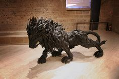 Yong Ho Ji is a Korean artist who utilizes used tires into recycled masterpieces. His productions are mostly in the form of animal which some of them are shown below, but he also creates cool mutants which are either combined by 2 animals or an animal and a human.