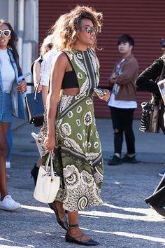 Danielle Prescod attends New York Fashion Week Spring 2016.