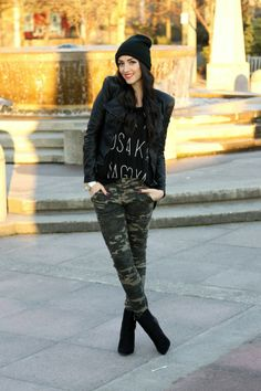 Camo and Leather | Vicky's Style