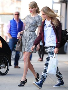 Shopping with Taylor Swift in New York City on April 9, 2014. Getty Images -Cosmopolitan.com
