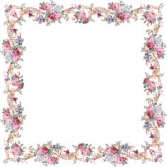 Victorian Floral Frame From PAPIROLAS COLORIDAS, free images but creator asks for email thank you message if you do use images Borders For Paper, Borders And Frames, Frame Background, Paper Background, Vintage Paper, Vintage Floral, Motif Photo, Molduras Vintage, Printable Frames