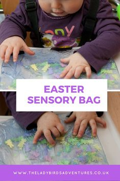 Easter sensory bag. Perfect for babies and toddlers. #easter #eastercrafts #sensoryplay