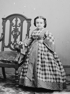 Lavinia Warren Bumpus Stratton (1841 - 1919), wife of Charles Stratton AKA General Tom Thumb. I believe her stage name was Thumblina. Both she and Tom met the Lincoln's and were well traveled and educated. Please note she is not a midget but a dwarf as she is perfectly proportioned.  A very lovely lady.