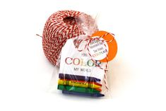 You Color My World Valentine's Day Card Crayon by StillRiverPress