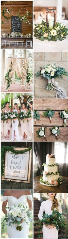 Home » Spring Weddings » 2017 Spring Wedding Color and Ideas » Greenery wedding color ideas 2017 Find your inspiration at www.pinterest.com/laurenweds/wedding-decor