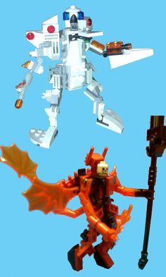 Lego fun ideas. Devil's suit and police robot :D