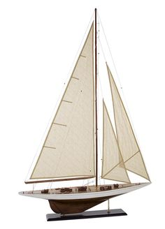 Coastal Style - Rig Model Sailing Boat Wood