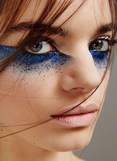 Afbeeldingsresultaat voor extravagant glitter face paint