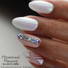 Rhinestone and geometric nail art