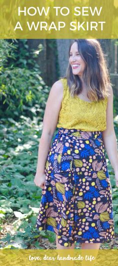 How to Sew a Wrap Skirt from Dear Handmade Life