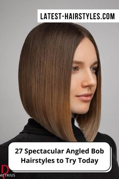 """If there's one sassy look, it's the angled bob. Not only is the angled bob seriously hairstastic, it also never goes out of style! If you have """"rocking the angled bob"""" on your bucket list, go ahead and pick one out from our collection of the hottest angled bob hairstyles we've ever seen. (Photo credit IG @demetriusschool_eng) Angled Bob Hairstyles, Latest Hairstyles, Angled Bobs, Out Of Style, Pick One, Short Hair Cuts, Hair Trends, Photo Credit, Angles"""