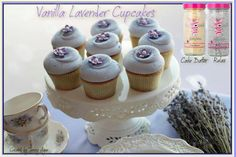 Pink Zebra Recipes: Vanilla Lavender Cupcakes.  Featuring: Cake Batter and Relax
