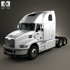 Mack Pinnacle Tractor Truck 2011 3d model from humster3d.com. Price: $75