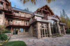 Exterior of luxury home in Bigfork, Montana