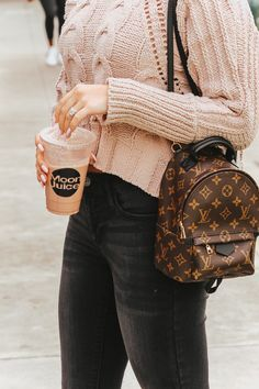 a2ea63a11 Cropped Turtle Neck Sweater | Louis Vuitton Palm Springs Backpack Mini |  Blondie in the City