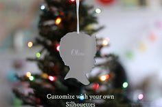 SPARKLING CHRISTMAS TREE NAME ORNAMENT MIRRORED ACRYLIC NAME KEEPSAKE WOW