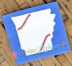 Arkansas Baseball Applique - 4 Sizes! | What's New | Machine Embroidery Designs | SWAKembroidery.com Creative Appliques