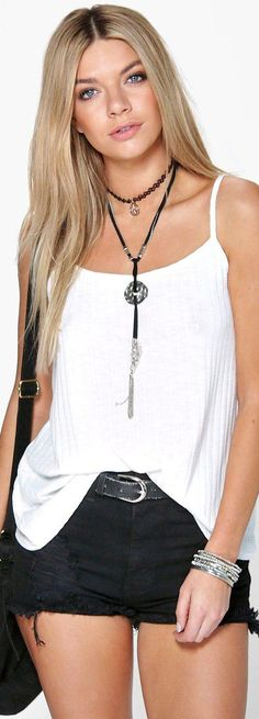 Amy Deep Rib Swing Cami - Tops  - Street Style, Fashion Looks And Outfit Ideas For Spring And Summer 2017