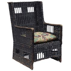 "Gustav Stickley, wicker armchair, no.86, Eastwood, NY, willow, unsigned, 25""w x 27.5""d x 39""h"