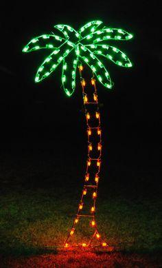 Holiday Lighting Palm Tree.