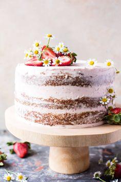 Strawberry Coconut Carrot Cake with Mascarpone Buttercream | halfbakedharvest.com @hbharvest via @hbharvest