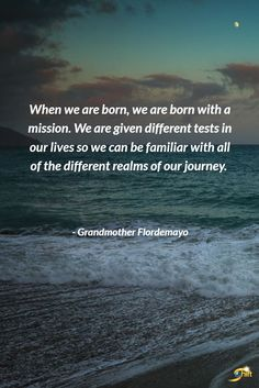 Quotes about Success : When we are born we are born with a mission. We are given different tests in o