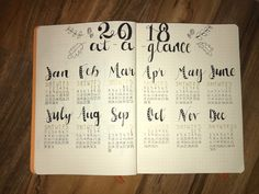 2018 #calligraphy #gold #blackandwhite #2018 #newyear #calendar #bulletjournal #journaling #love #art