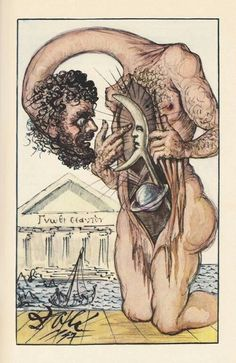 One of Salvador Dalí's illustrations for the essays of Montaigne.